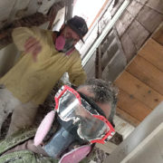 Juan and Zach dense pack cellulose insulation