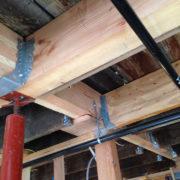 Pre-sheetrock in the building
