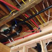 Ceiling plumbing electrical