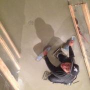 Finishing the concrete slab