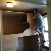 Building bunk beds at the Redlight