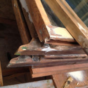 Double hung sashes in a pile